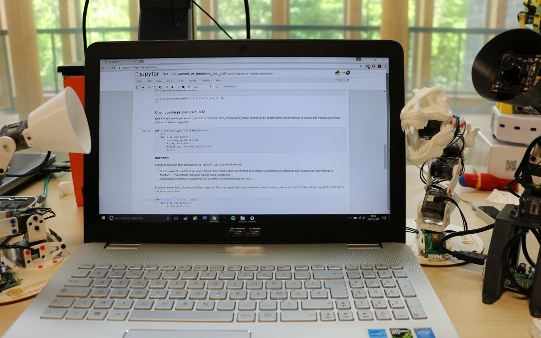 Tutoriel découverte : Poppy Ergo Jr et Python