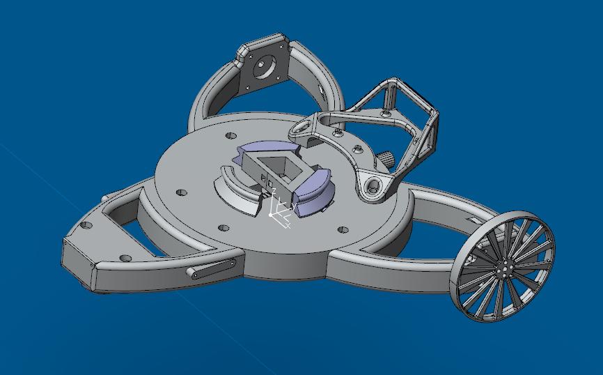 plateforme mobile créée par les étudiants de l'ENSAM pour le robot Poppy Torso